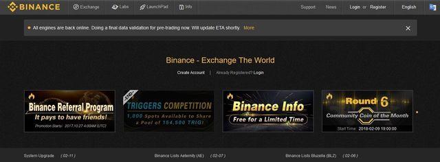 BINANCE GOX